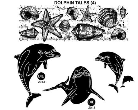 Dolphin Tale 4 Static Mounted Rubber Stamps