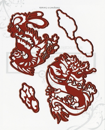 Asian Mythology 4 Ez Mounted Rubber Stamps