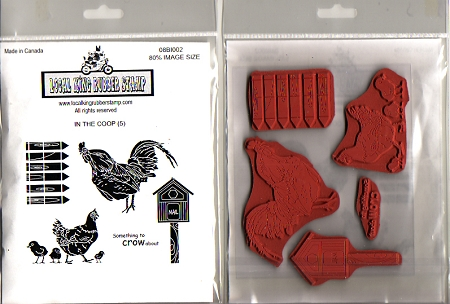 In The Coop 5 Cling Mounted Rubber Stamps