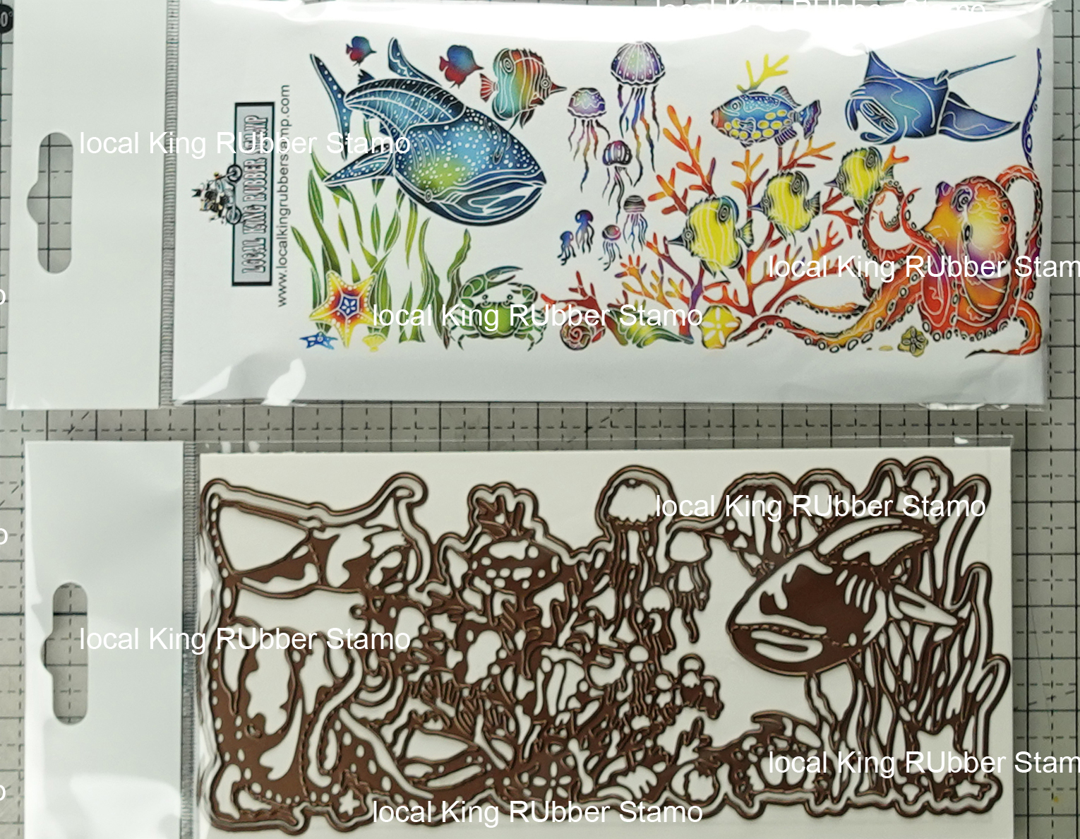 Under The Sea 5 Ez Mounted Stamps