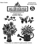 GARDEN TIME (4) EZ MOUNTED RUBBER STAMPS