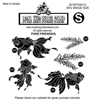 Pond Friends 5 Ez Mounted Rubber Stamps