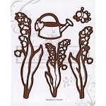 Lily OF THE VALLEY(5) Matching dies set