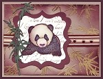 PANDA BEAR (4) ClING RUBBER STAMPS