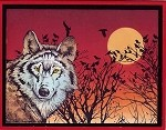 WOLVES (5) CLING MOUNTED RUBBER STAMPS