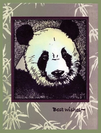 IT'S A PANDA'S LIFE (3)  STATIC MOUNTED RUBBER STAMPS
