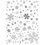 SNOWFLAKES 1 STATIC MOUNTED RUBBER STAMP
