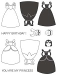 YOU ARE MY PRINCESS (9) STATIC MOUNTED RUBBER STAMPS