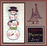 CHRISTMAS FUN (7) STATIC MOUNTED RUBBER STAMPS