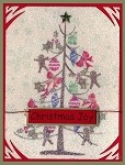 CHRISTMAS JOY  (10) STATIC MOUNTED RUBBER STAMPS