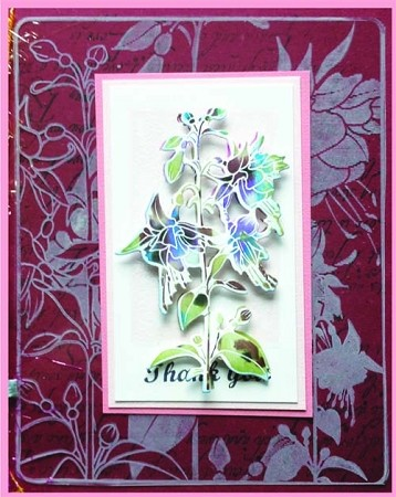 FUCHSIA (4) CLING MOUNTED RUBBER STAMPS