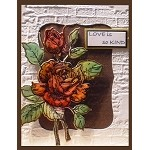 ROSE (1) CLING MOUNT RUBBER STAMP AND DIE COMBO