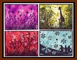 WALKS WITH NATURE (4) CLING MOUNTED RUBBER STAMPS