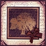 TREE 4 (4) CLING MOUNTED RUBBER STAMPS