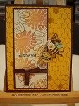 HONEY BEES (6) CLING MOUNTED RUBBER STAMPS