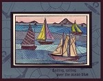 SAILIN' AWAY (4) STATIC MOUNTED RUBBER STAMPS