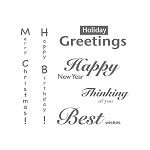 TEXT 3 (6) CLING MOUNTED RUBBER STAMPS