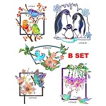 2019 Fall new designs B SET (5 stamps+10 dies) 5 combo sets