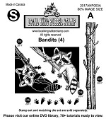 Bandits (5) EZ mounted Rubber Stamp