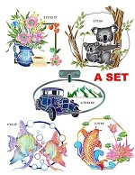 2019 Fall New Designs A set ( 5 stamps+10 dies) 5 combo sets